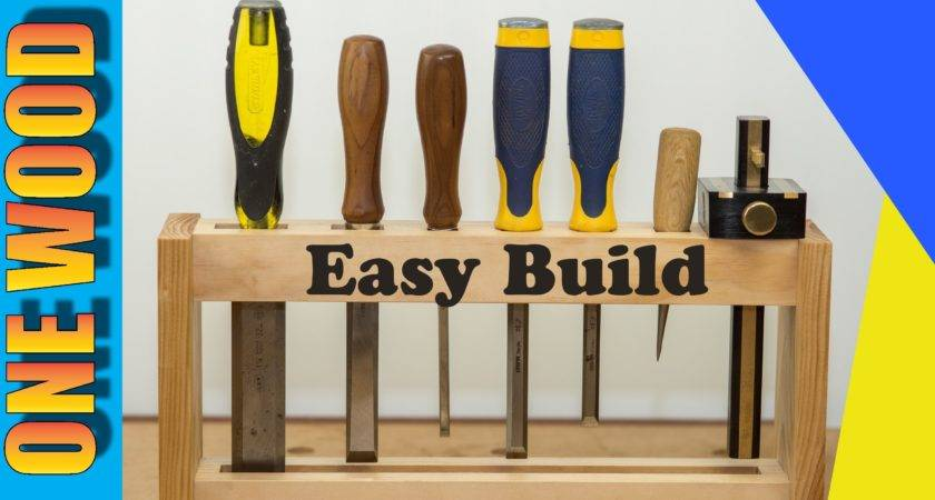 Woodworking Project Build Diy Chisel Rack Beginners