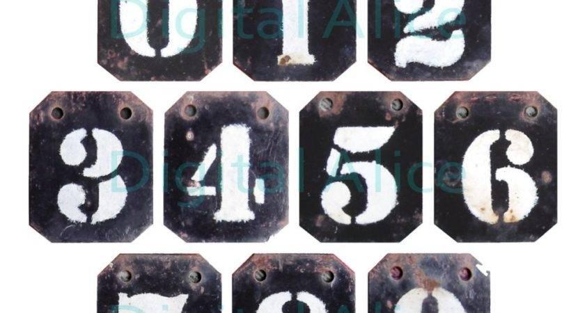 Worn Metal Number Industrial Locker Numbers Instant