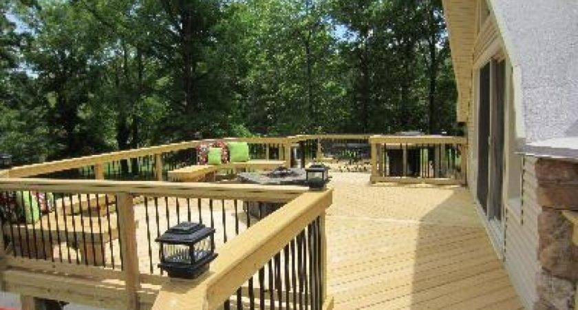 Wrap Around Deck Designs Two Story
