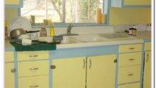 Yellow Blue Kitchen Ideas Home Cabinet Reviews