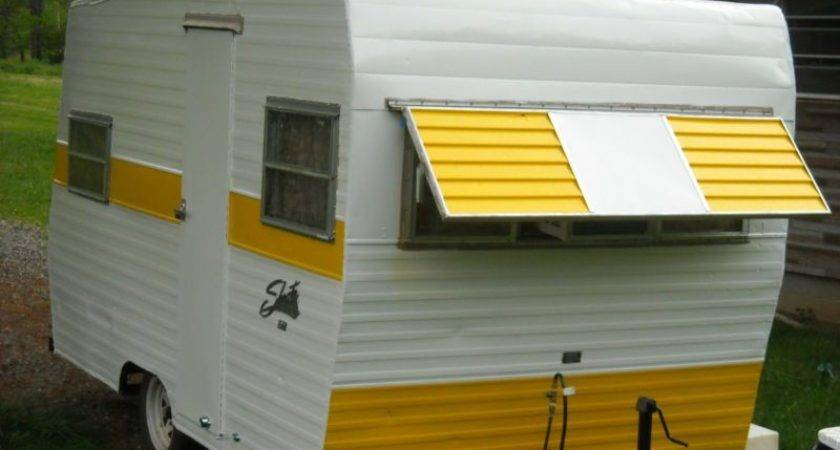 Yellow Shasta Vintage Camper Tiny Trailer