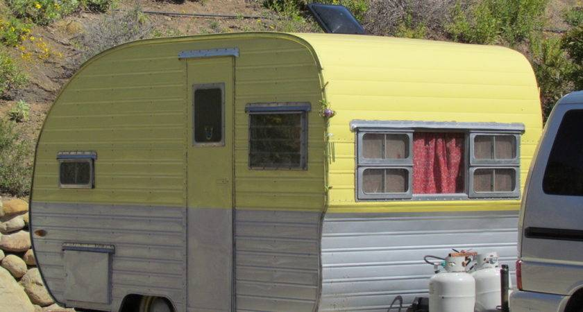 Yellow Vintage Caravans Pinterest