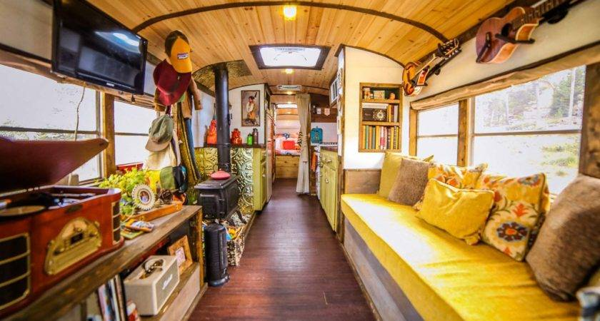 Young Live Beautiful Converted School Bus